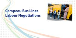 Strike notice issued by Campeau Bus Lines drivers